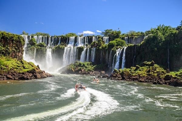 Boat Ride, Iguazu Falls,