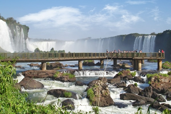Iguassu Falls, Walkway Brazil Side