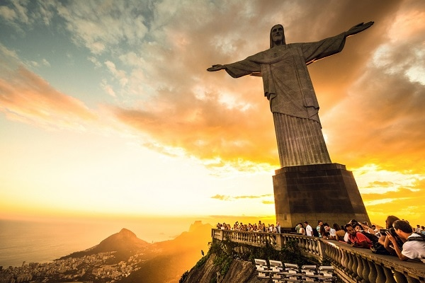 Sunset at Corcavado, Christ the Redeemer