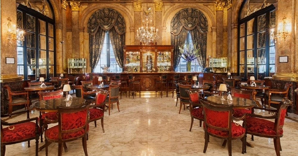 Dining room at the Alvear Palace hotel in Buenos Aires