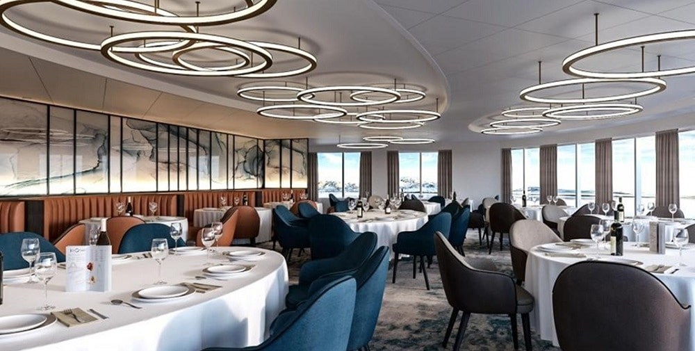 Dining Room of Ultramarine Cruise Ship