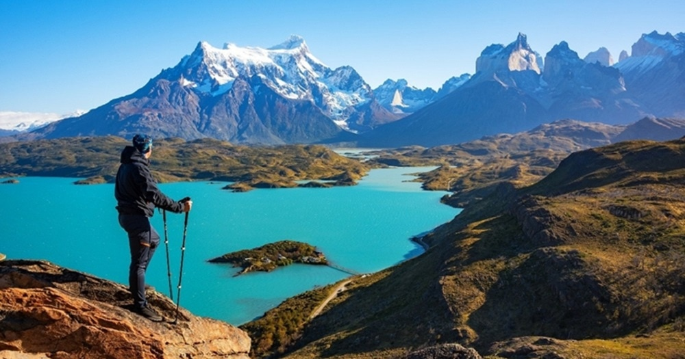 Patagonia Landscape, mountains and lake