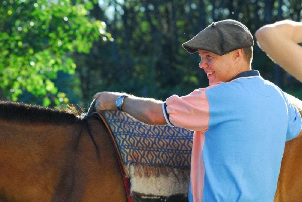Kevin Begg and horse