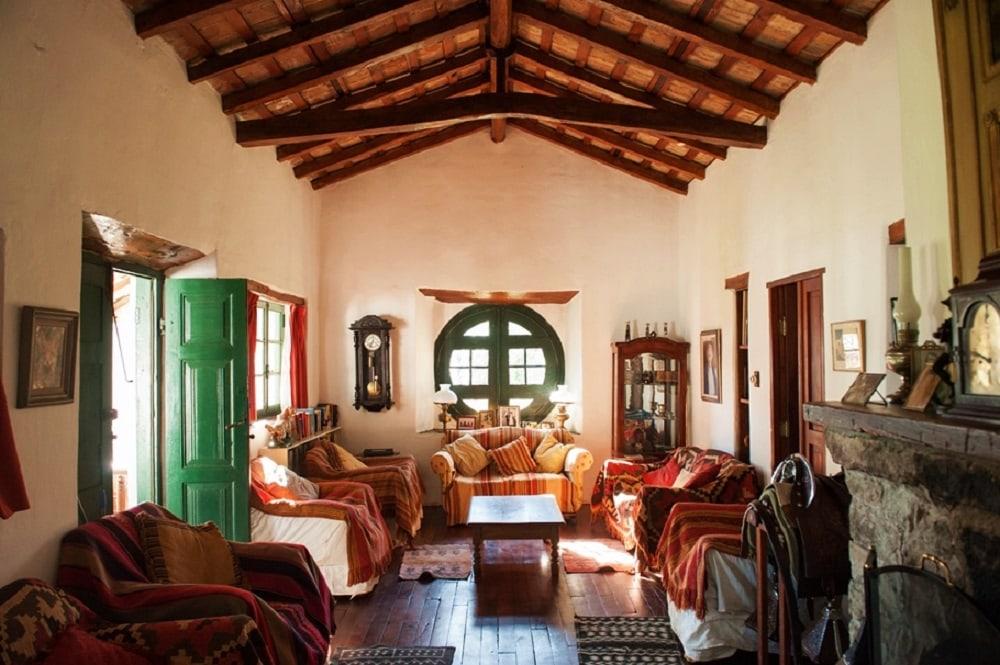 Lounge area at Estancia Los Potreros