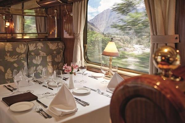 Fine Dining - Belmond Hiram Bingham Train