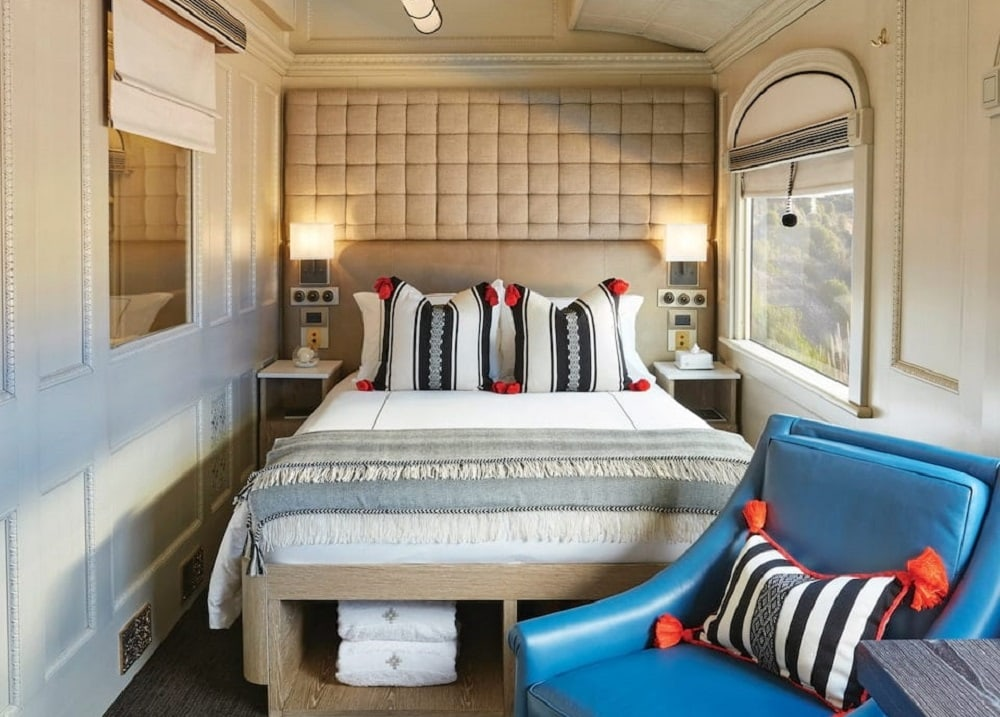 Luxury Train Cabin Bedroom, Belmond Andean Explorer
