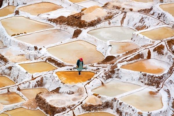 Maras Salt Pans - Deep Ochre Colors
