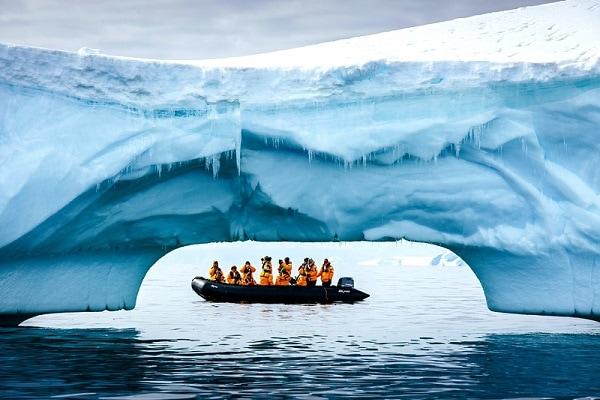 Antarctica Iceberg Arch