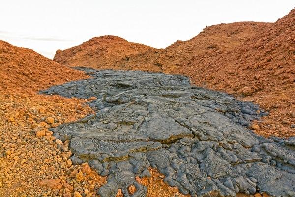 Black Lava on Red Volcanic Ash - Santiago Island