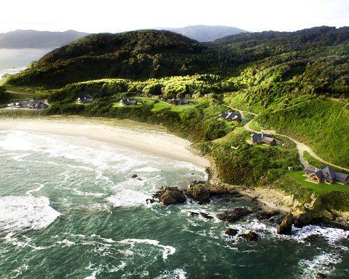 Coastal Hotel overlooking shore